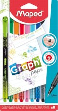 Cienkopis GRAPH PEPS DECO 8 szt blister Maped 749048